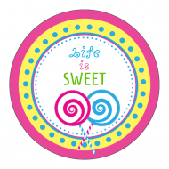 Celebration Sticker - Candy Shop