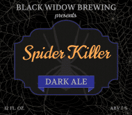 Holiday Beer Label - Black Widow