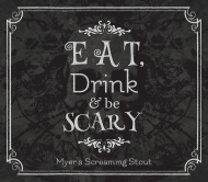 Holiday Beer Label - Eat, Drink & Be Scary
