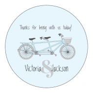Wedding Sticker - Bicycle for Two