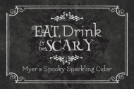 Holiday Mini Wine Label - Eat, Drink & Be Scary