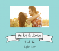 Wedding Beer Label - Wedding Banner