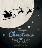 Holiday Wine Label - Wonderful Christmas