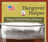 Birthday Beer Label - Hangover