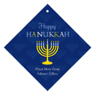 Holiday Wine Hang Tag - Hanukkah