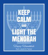 Holiday Wine Label - Keep Calm & Light the Menorah