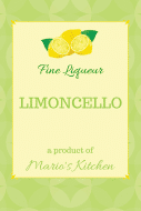 Food Label - Limoncello