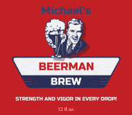 Expressions Beer Label - Beer Man