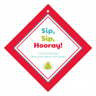 Holiday Wine Hang Tag - Sip, Sip, Hooray