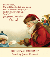 Holiday Wine Label - Dear Santa