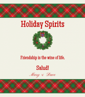 Holiday Wine Label - Christmas Spirit