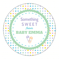 Baby Sticker - Pastel Polka Dots