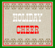 Holiday Beer Label - Burlap Holiday Cheer