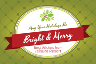Holiday Mini Wine Label - Bright and Merry