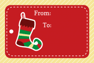 Holiday Mini Wine Label - Christmas Stockings