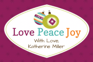 Holiday Mini Wine Label - Love Peace Joy