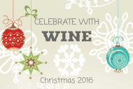 Holiday Mini Wine Label - Ornaments