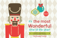 Holiday Mini Wine Label - Nutcracker