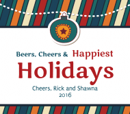 Holiday Beer Label - Happiest Holidays