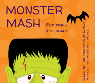 Holiday Beer Label - Monster Mash