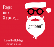 Holiday Beer Label - Hipster Santa