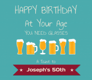 Birthday Beer Label - Birthday Glasses