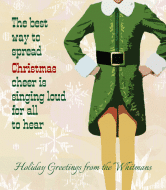 Holiday Wine Label - Spreading Cheer
