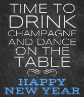 Holiday Champagne Label - Drink Champagne and Dance