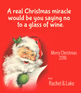 Holiday Wine Label - Christmas Miracle