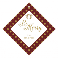 Holiday Wine Hang Tag - Be Merry