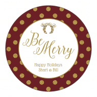 Holiday Sticker - Be Merry