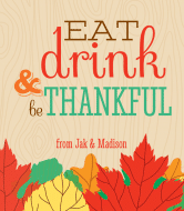 Holiday Wine Label - Be Thankful
