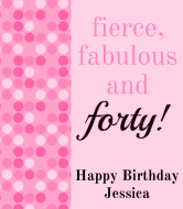 Birthday Champagne Label - Fierce, Fabulous, Forty