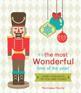 Holiday Wine Label - Nutcracker