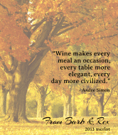 Expressions Wine Label - Fall Leaves