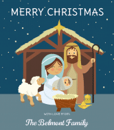 Holiday Wine Label - Away In A Manger