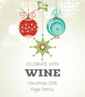 Holiday Wine Label - Ornaments