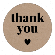 Wedding Label - Kraft Paper Thank You