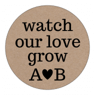 Wedding Label - Kraft Paper Love Grow