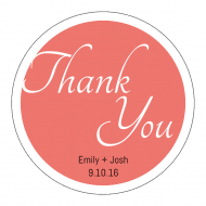 Wedding Label - Wedding Thank You