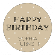 Birthday Label - Birthday Circle