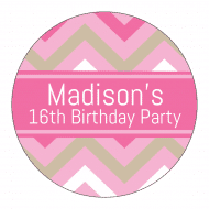 Birthday Label - Birthday Chevron