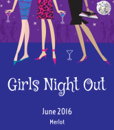 Celebration Wine Label - Girls Night Out