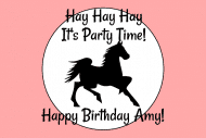 Birthday Mini Liquor Label - Dark Horse
