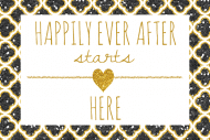 Wedding Mini Champagne Label - Happy Forever