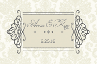 Wedding Mini Champagne Label - Classic Wedding