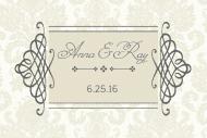 Wedding Mini Champagne Label - Classic Wedding