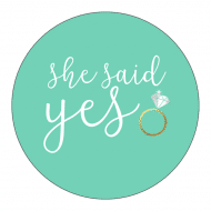 Wedding Sticker - She Said Yes