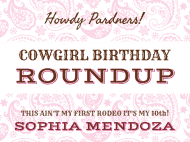 Birthday Sticker - Cowgirl Roundup