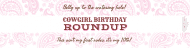 Birthday Custom Label Bottled Water - Cowgirl Roundup